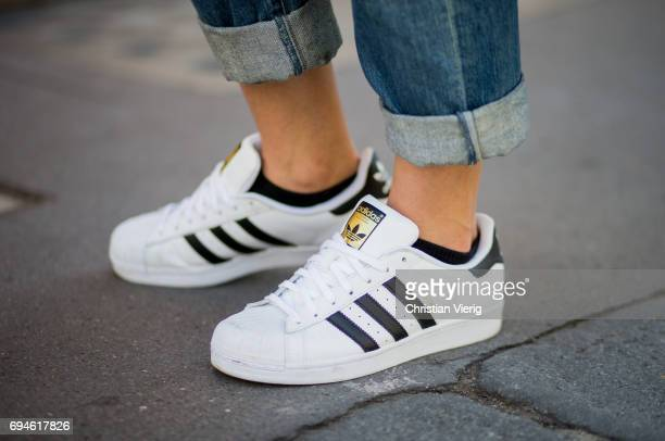 Adidas superstar sneakers during the London Fashion Week Men's June 2017 collections on June 10 2017 in London England