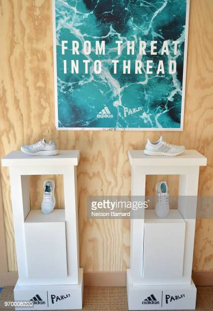 adidas UltraBOOST X Parley Limited Edition and adidas UltraBOOST Parley Limited Editionat sneakers at adidas x Parley 'Run For The Oceans' event...