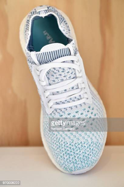 adidas UltraBOOST X Parley Limited Edition sneakers at adidas x Parley 'Run For The Oceans' event harnessing the power of sport and continued fight...