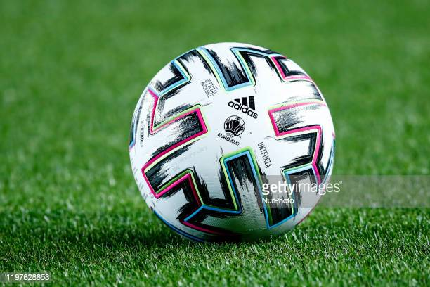 Adidas Uniforia official match ball for EURO 2020 during the Spanish Copa del Rey match between FC Barcelona and Leganes at Camp Nou on January 30,...