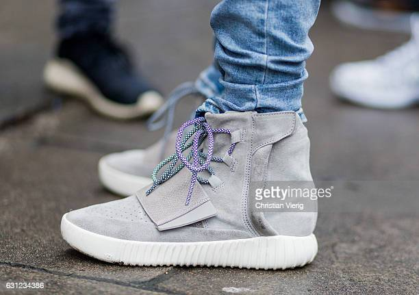 Adidas Yeezy Boost 750 during London Fashion Week Men's January 2017 collections at KTZ on January 8 2017 in London England