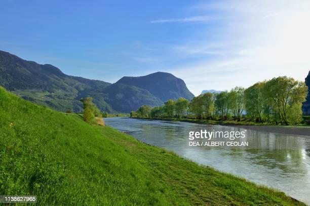 Adige river in Salurn TrentinoAlto Adige Italy