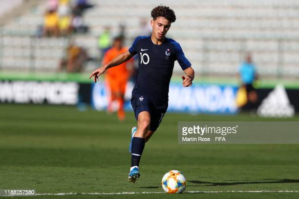 Adil Aouchiche of France during the 3rd Place Playoff match between the Netherlands and France at the Estadio Bezerrão on November 17 2019 in...
