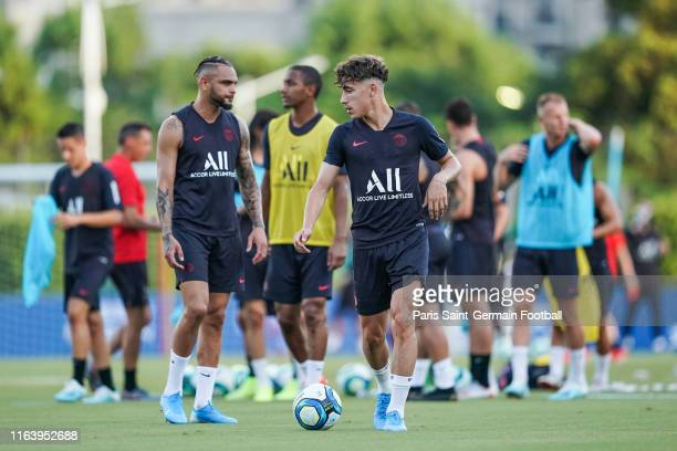 Adil Aouchiche of Paris SaintGermain during open training on July 24 2019 in Shenzhen China