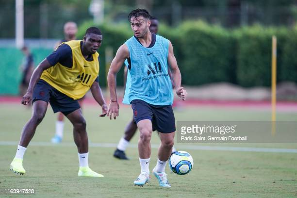 Adil Aouchiche of Paris SaintGermainin in control of the ball on July 24 2019 in Shenzhen China