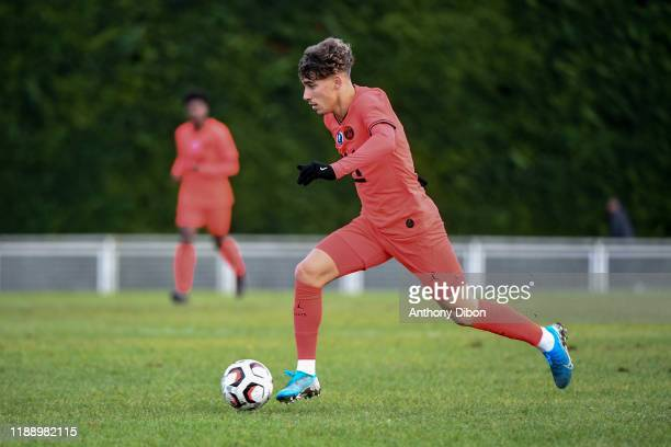 Adil AOUCHICHE of PSG during the Gambardella Cup match between Evry and Paris Saint Germain on december 15th 2019 in Evry Photo by Anthony Dibon /...