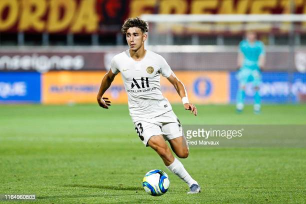 Adil Aouchiche of PSG during the Ligue 1 match between Metz and Paris Saint Germain on August 30 2019 in Metz France