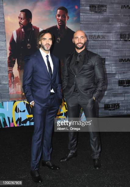 """Adil El Arbi and Bilall Fallah arrive for the Premiere Of Columbia Pictures' """"Bad Boys For Life"""" held at TCL Chinese Theatre on January 14, 2020 in..."""