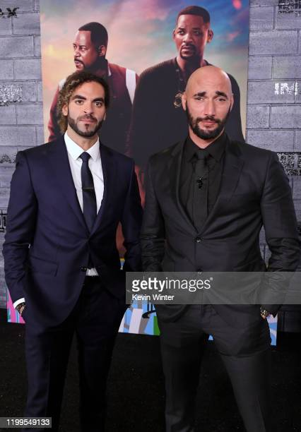 """Adil El Arbi and Bilall Fallah attend the premiere of Columbia Pictures' """"Bad Boys For Life"""" at TCL Chinese Theatre on January 14, 2020 in Hollywood,..."""