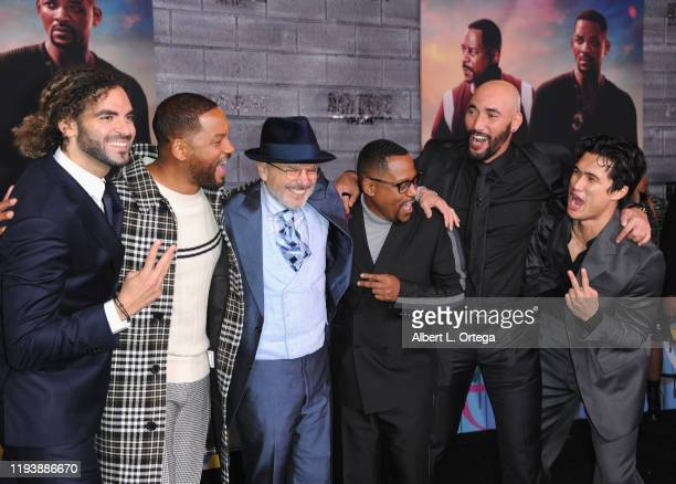 Adil El Arbi Will Smith Joe Pantoliano Martin Lawrence Bilall Fallah and Charles Melton arrive for the Premiere Of Columbia Pictures' Bad Boys For...