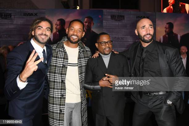 """Adil El Arbi, Will Smith, Martin Lawrence, and Bilall Fallah attend the premiere of Columbia Pictures' """"Bad Boys For Life"""" at TCL Chinese Theatre on..."""