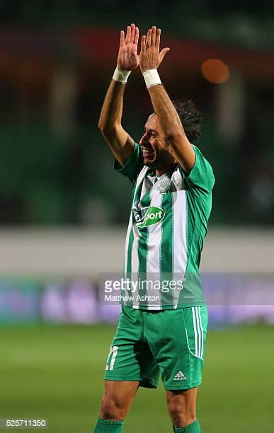 Adil Karrouchy of Raja Casablanca celebrates victory
