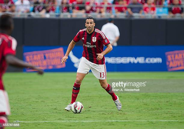 Adil Mai of AC Milan controls the ball during first half action against Liverpool in the Guinness International Champions Cup at Bank of America...