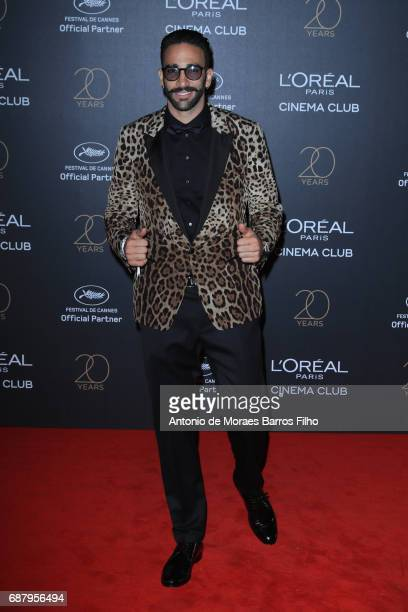 Adil Rami attends the Gala 20th Birthday Of L'Oreal In Cannes during the 70th annual Cannes Film Festival at Hotel Martinez on May 24 2017 in Cannes...