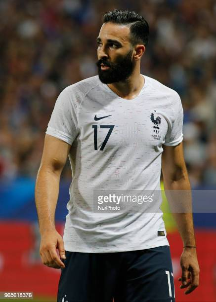 Adil Rami during the friendly match between France and Italy in Nice on June 1 2018