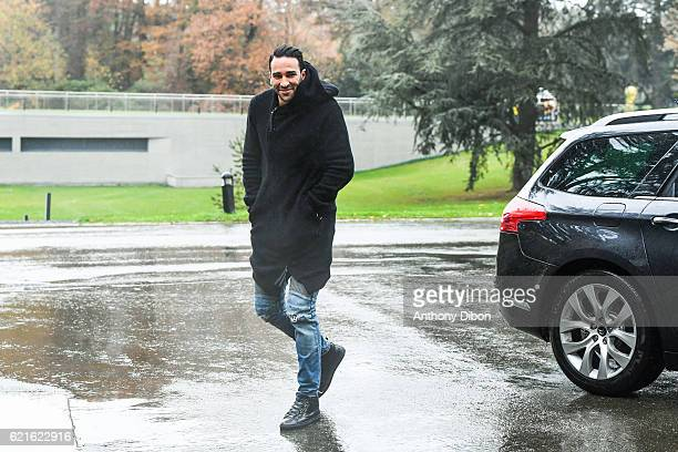 Adil Rami of France arriving at Centre National du Football on November 7 2016 in Clairefontaine France