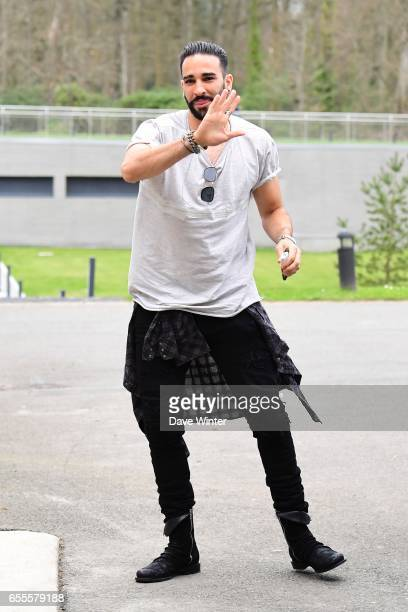 Adil Rami of France arriving at Centre National du Football on March 20 2017 in Clairefontaine France