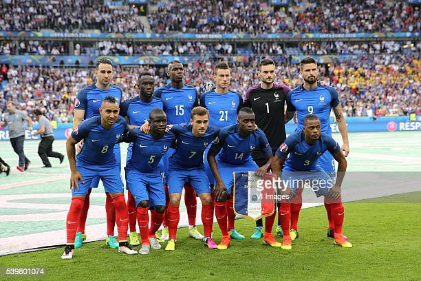 Adil Rami of France Bacary Sagna of France Paul Pogba of France Laurent Koscielny of France goalkeeper Hugo Lloris of France Olivier Giroud of France...