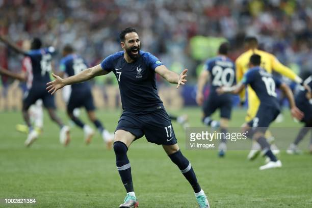 Adil Rami of France during the 2018 FIFA World Cup Russia Final match between France and Croatia at the Luzhniki Stadium on July 15 2018 in Moscow...