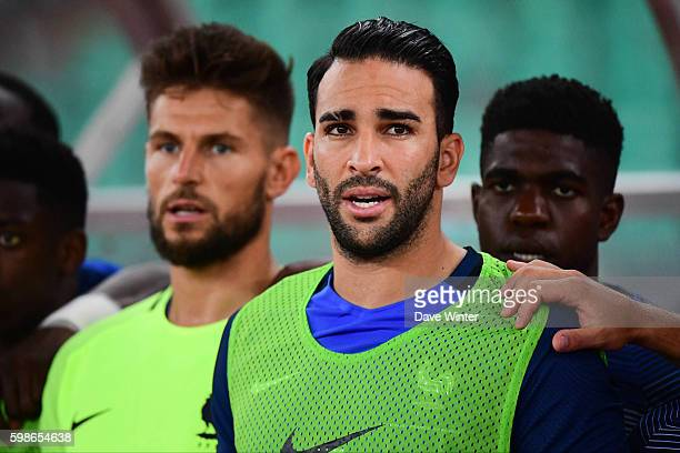 Adil Rami of France during the friendly match between Italy and France at Stadio San Nicola on September 1 2016 in Bari Italy