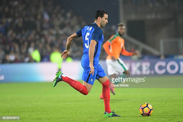 Adil Rami of France during the International friendly match between France and Ivory Coast at Stade BollaertDelelis on November 15 2016 in Lens France