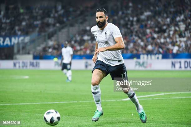 Adil Rami of France during the International Friendly match between France and Italy at Allianz Riviera Stadium on June 1 2018 in Nice France