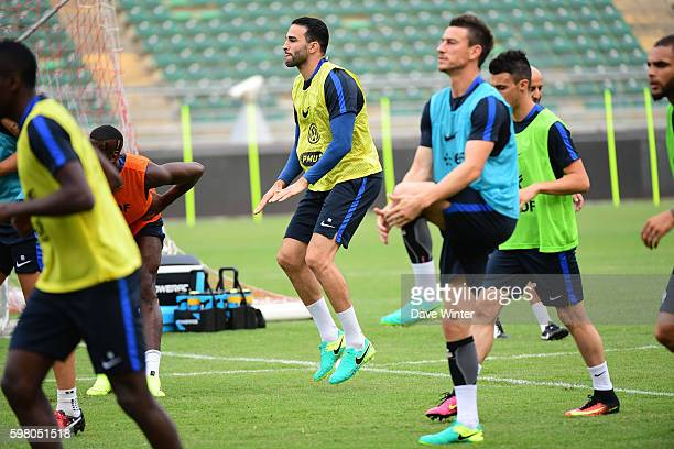 Adil Rami of France during the training session before the friendly match between Italy and France at Stadio San Nicola on August 31 2016 in Bari...