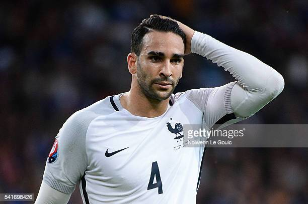 Adil Rami of France during the UEFA EURO 2016 Group A match between Switzerland and France at Stade PierreMauroy on June 19 2016 in Lille France