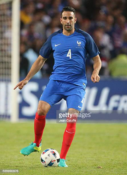 Adil Rami of France in action during the international friendly match between France and Cameroon at Stade de La Beaujoire on May 30 2016 in Nantes...
