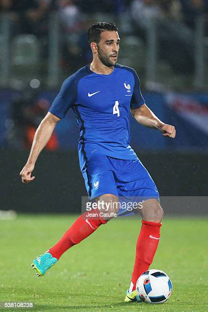 Adil Rami of France in action during the international friendly match between France and Scotland at Stade Saint Symphorien on June 4 2016 in Metz...