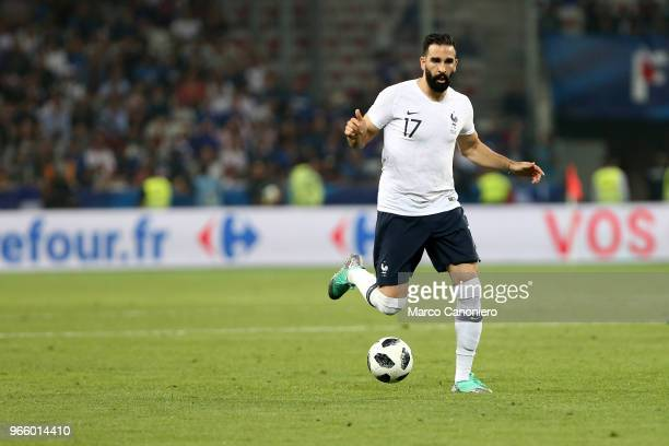 Adil Rami of France in action during the the International Friendly match between France and Italy France wins 31 over Italy
