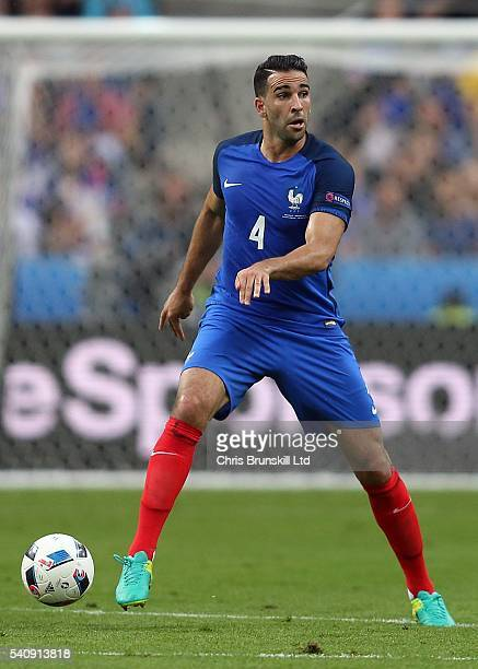 Adil Rami of France in action during the UEFA Euro 2016 Group A match between France and Romania at Stade de France on June 10 2016 in Paris France