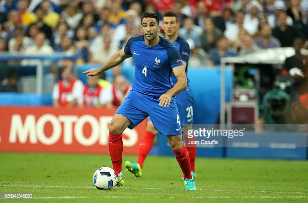 Adil Rami of France in action during the UEFA Euro 2016 Group A opening match between France and Romania at Stade de France on June 10 2016 in...