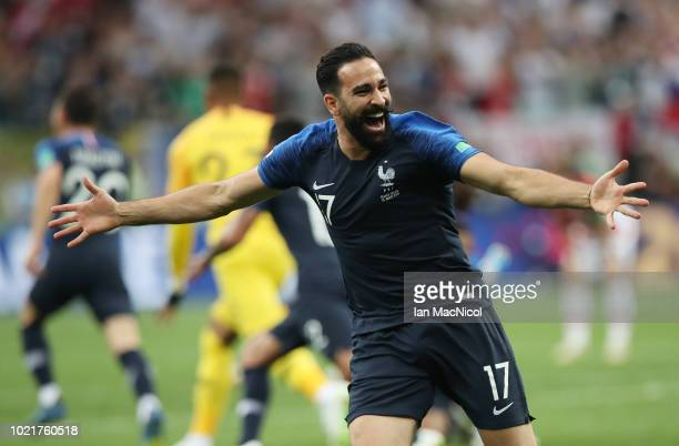 Adil Rami of France is seen during the 2018 FIFA World Cup Russia Final between France and Croatia at Luzhniki Stadium on July 15 2018 in Moscow...