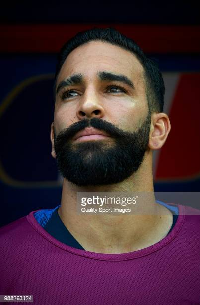 Adil Rami of France looks on prior the 2018 FIFA World Cup Russia Round of 16 match between France and Argentina at Kazan Arena on June 30 2018 in...