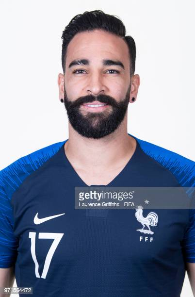 Adil Rami of France poses for a portrait during the official FIFA World Cup 2018 portrait session at the Team Hotel on June 11 2018 in Moscow Russia