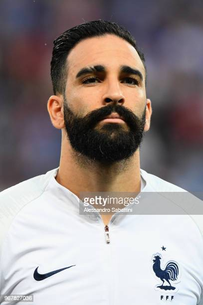 Adil Rami of Francenlooks on before the International Friendly match between France and Italy at Allianz Riviera Stadium on June 1 2018 in Nice France