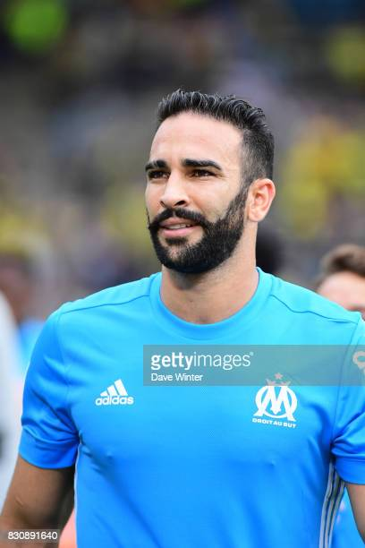 Adil Rami of Marseille after the Ligue 1 match between FC Nantes and Olympique Marseille at Stade de la Beaujoire on August 12 2017 in Nantes