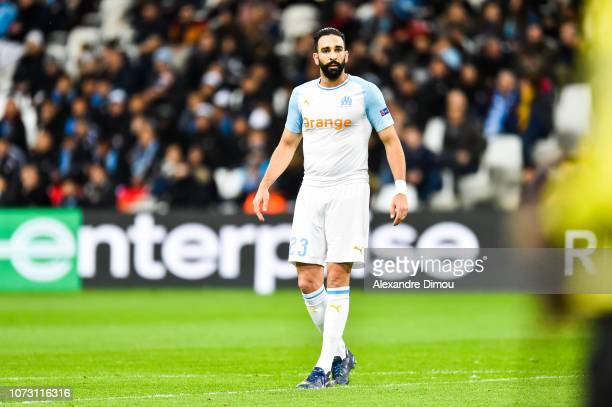 Adil Rami of Marseille during the Europa League match between Olympique Marseille and Apollon Limassol on December 13 2018 in Marseille France