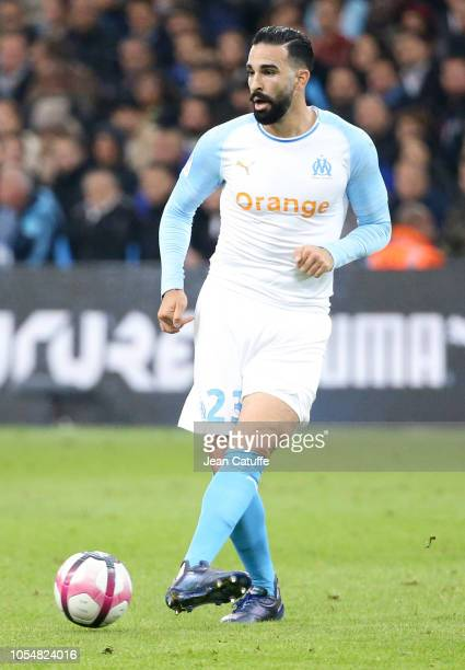 Adil Rami of Marseille during the french Ligue 1 match between Olympique de Marseille and Paris SaintGermain at Stade Velodrome on October 28 2018 in...
