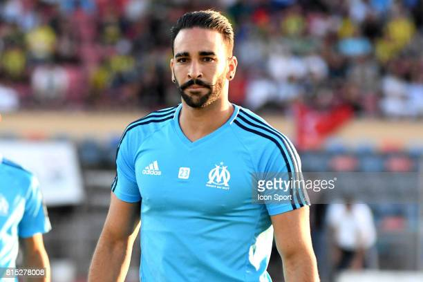 Adil Rami of Marseille during the friendly match between Olympique de Marseille and Fenerbahce on July 15 2017 in Lausanne Switzerland