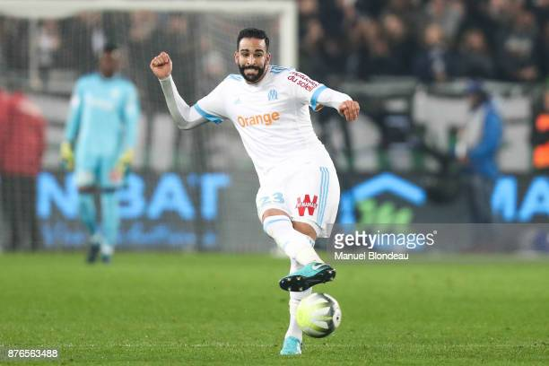 Adil Rami of Marseille during the Ligue 1 match between FC Girondins de Bordeaux and Olympique Marseille at Stade Matmut Atlantique on November 19...