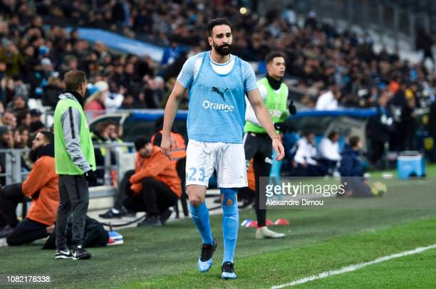 Adil Rami of Marseille during the Ligue 1 match between Marseille and Monaco at Stade Velodrome on January 13 2019 in Marseille France