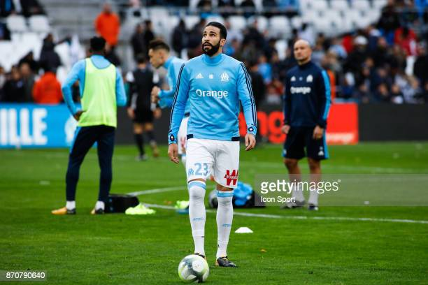 Adil Rami of Marseille during the Ligue 1 match between Olympique Marseille and SM Caen at Stade Velodrome on November 5 2017 in Marseille