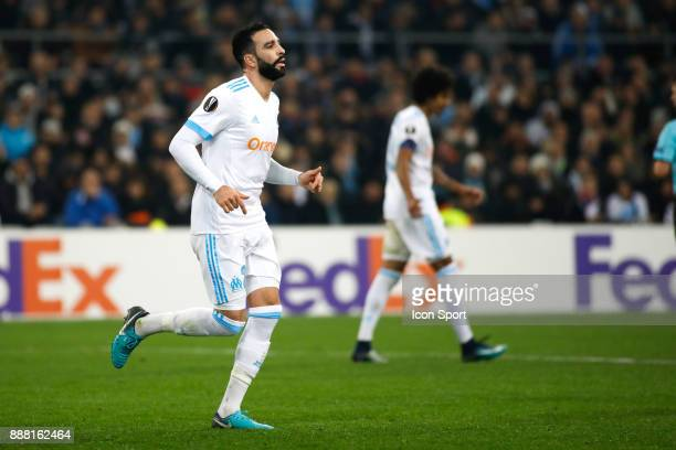 Adil Rami of Marseille during the Uefa Europa League match between Olympique de Marseille and Red Bull Salzburg at Stade Velodrome on December 7 2017...
