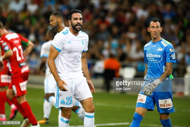 Adil Rami of Marseille during the UEFA Europa League qualifying match between Marseille and Ostende at Stade Velodrome on July 27 2017 in Marseille...