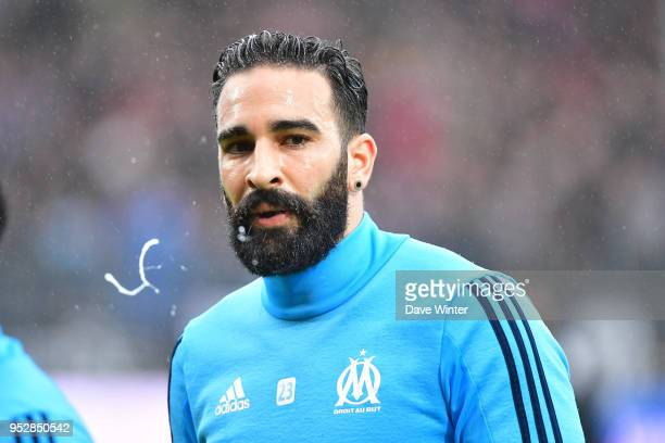 Adil Rami of Marseille during the warm up before the Ligue 1 match between Angers SCO and Olympique Marseille at Stade Raymond Kopa on April 29 2018...