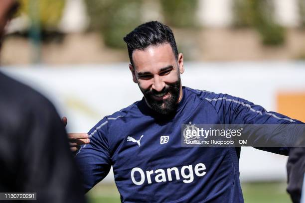 Adil Rami of Olympique de Marseille during Training Session at Centre Robert LouisDreyfus on March 15 2019 in Marseille France