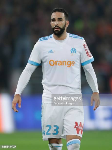 Adil Rami of Olympique Marseille during the French League 1 match between Lille v Olympique Marseille at the Stade Pierre Mauroy on October 29 2017...