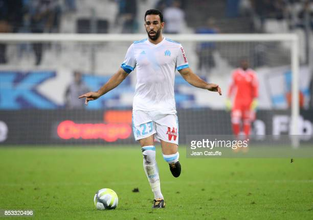 Adil Rami of OM during the French Ligue 1 match between Olympique de Marseille and Toulouse FC at Stade Velodrome on September 24 2017 in Marseille...